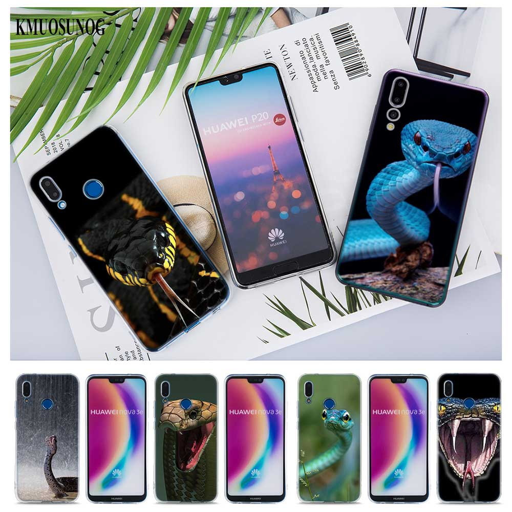 Transparent Soft Silicone Phone Cases Snakes for Huawei Honor 7A Pro P Smart P20 P9 P8 9 Lite 2017 in Fitted Cases from Cellphones Telecommunications