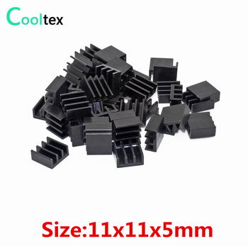 500pcs Extruded Aluminum heatsink 11x11x5mm for Chip IC  Electronic heat dissipation COOLER  cooling