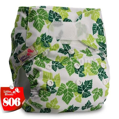 [Littles&Bloomz] Детские Моющиеся Многоразовые, настоящая стандартная ткань, застежка-липучка, карман для подгузников, пеленки, обертывание, подходит для рождения в горшке - Цвет: 806