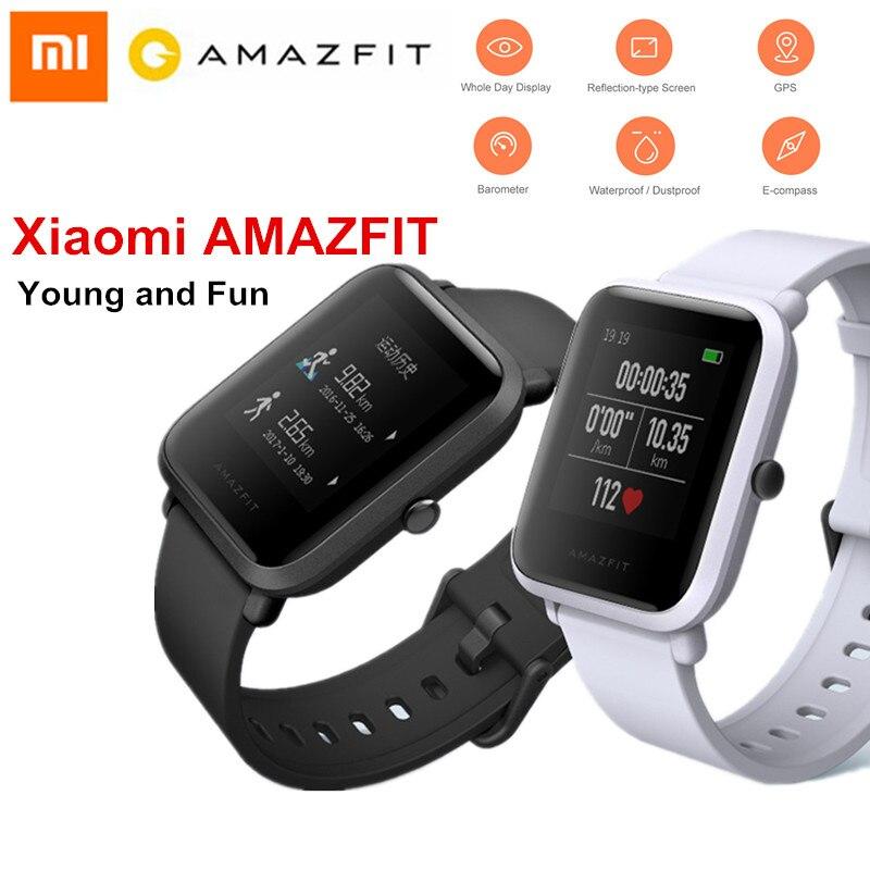 Xiaomi Amazfit Bip Smart Watch Huami GPS Smartwatch Pace Lite Bluetooth 4.0 Heart Rate 45 Days Standby IP68 English Version