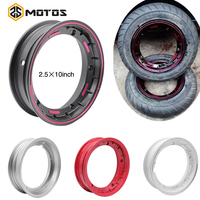 ZS MOTOS Motorcycle rims Case for Piaggio Vespa 10 inch Scooter Aluminum Wheel Rim with Nut,Oring and Inflating Valve