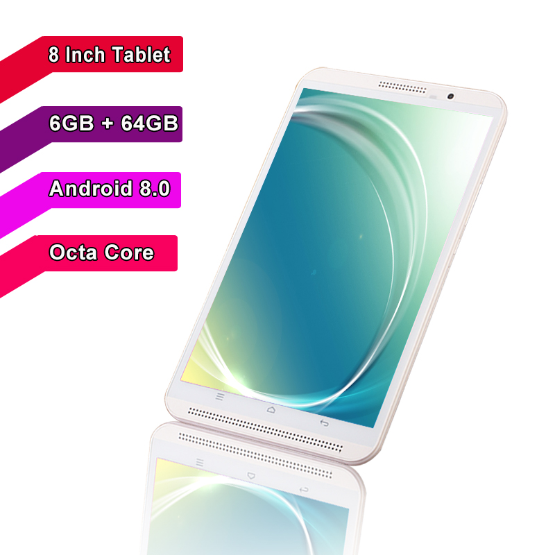 BMXC authentische 4G telefon 8 inch <font><b>tablet</b></font> pc <font><b>Android</b></font> 8.0 Octa Core <font><b>6</b></font> + 64GB Dual SIM karte WIFI bluetooth FM GPS Smart tabletten stücke + Geschenk image