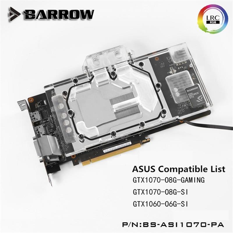 Barrow ASUS GeForce Ice knight GTX 1070/1060 GPU Water Block Full Coverage BS-ASI1070-PA