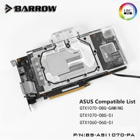 Barrow ASUS GeForce Ice Knight GTX 1070 1060 GPU Water Block Full Coverage BS ASI1070 PA