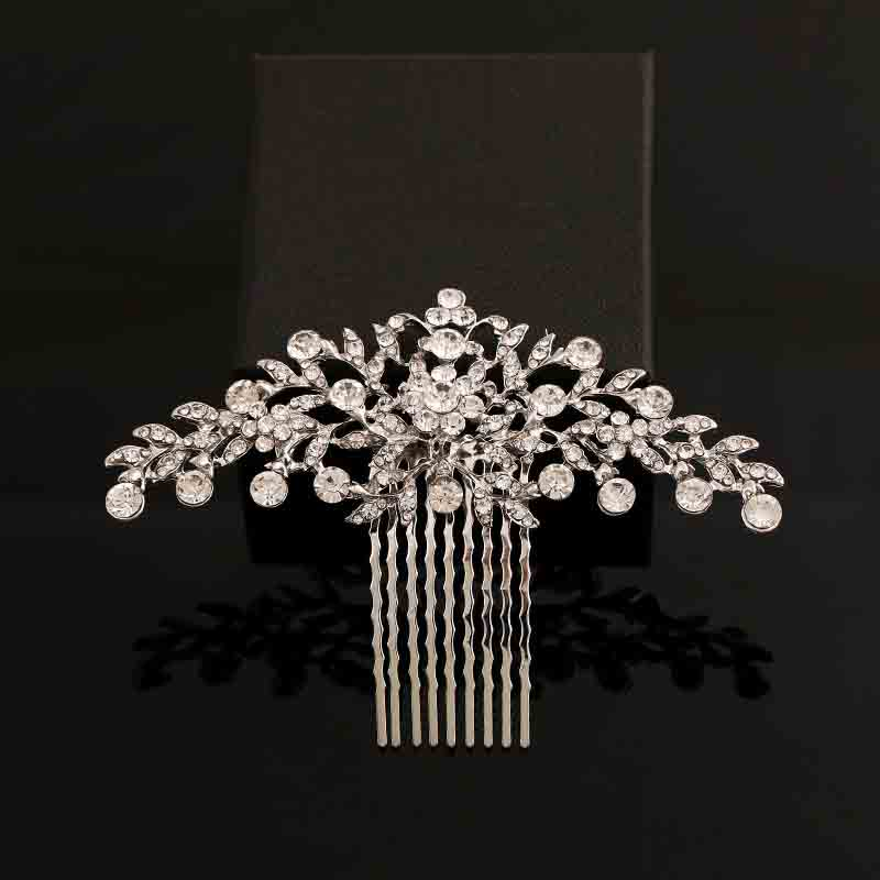 2018 New Fashion Bridal Wedding Hair Accessories For Bride Rhinestone Crystals Hair Comb Hair Pieces Hair Jewelry For Women