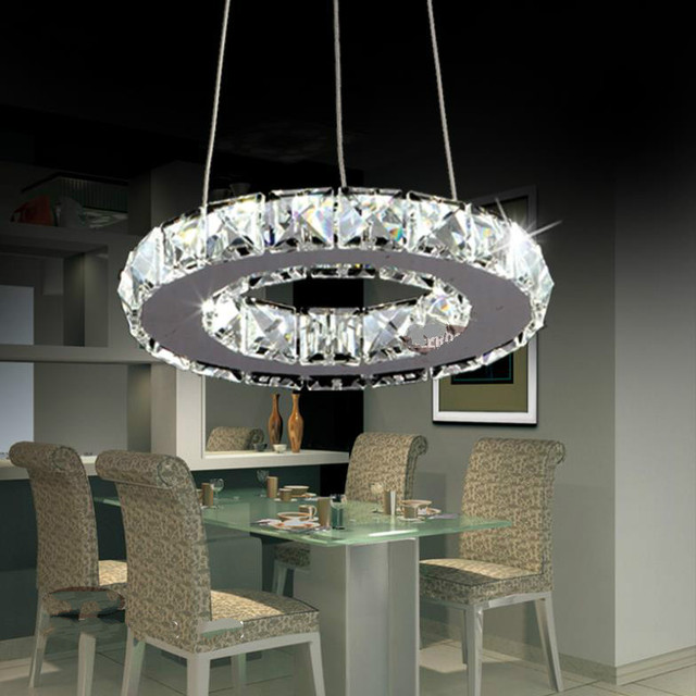 office chandeliers crystal modern led ring lamp light fixture crytsal office lighting chandeliers diameter 200mm cool white small
