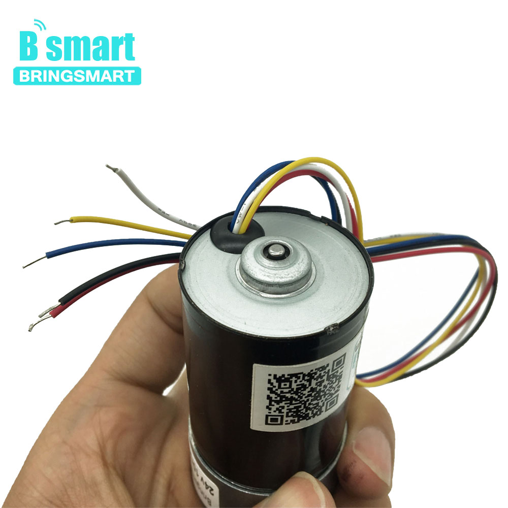 BringSmart DC Micro Electric Motor Speed Control High Speed 12V 24V High Torque Reduction Brushless BLDC Gear Motor JGB37 3650