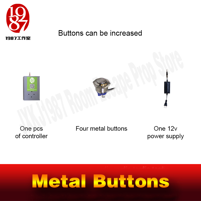 Image 4 - Chamber room prop real life escape room magic metal button in order to unlcok with audio jxkj1987 adventure room prop game-in Alarm System Kits from Security & Protection