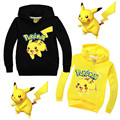2016 Children Pokemon Go Hoodies Sweatshirts Baby Kids Pikachu Hoodie Sweatshirt Jumper Sweater Sports Pullover Tops