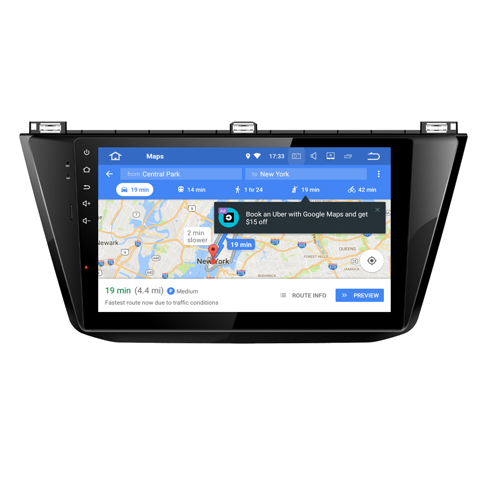 RoverOne Android 8.0 Car Multimedia System For VW Tiguan 2017 2018 Radio Stereo GPS Navigation Android Media Player PhoneLink image