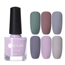 UR SUGAR Matte Nail Polish Pure Color Art Manicure Varnish Design 6 Colors