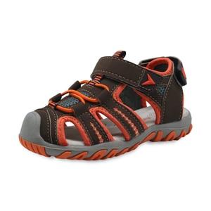 Image 3 - Apakowa marka yeni yaz çocuk plaj erkek sandalet çocuk ayakkabı kapalı ayak kemer desteği spor sandalet ab boyutu 21 32
