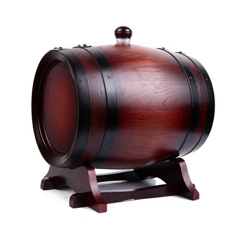 10l Eiken Vat Rode Wijn Vat Liquor Opslaan Wijn Blaas Chrismas Gift Houten Vat Decoratie Real Eiken Bar Hotel Sets Jh129