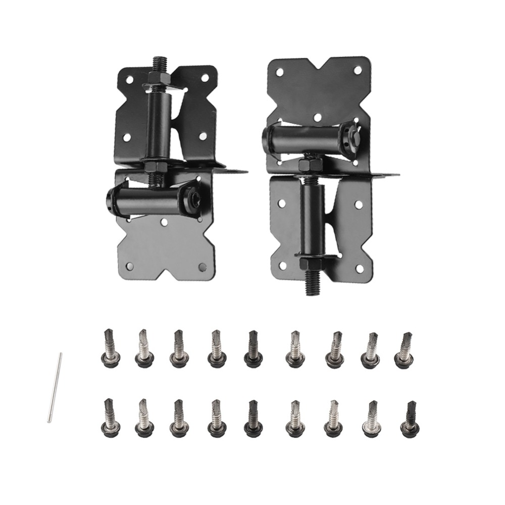 One Pair Carbon Steel Heavy Duty Hinges Fence Garden Gate