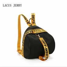 Lacus Джерри женщины лента сумка новый нейлон Простой Личность рюкзак 2017 Женский Водонепроницаемый сумка Бесплатная доставка