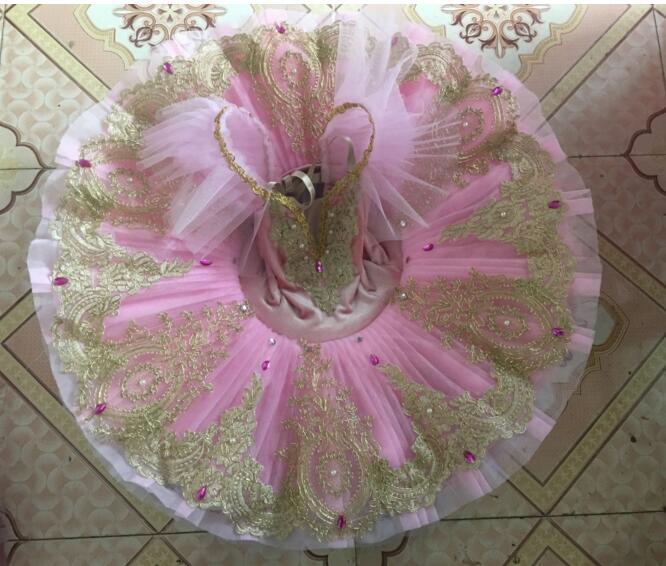 6 couleurs professionnel Tutu adulte lac des cygnes danse Costume Ballet Tutu justaucorps pour femmes crêpe enfants fête patinage robe