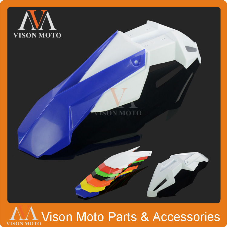 Blue+White Front Fender Mudguard For Yamaha YZ80 YZ85 YZ125 YZ250 YZ250F YZ400F YZ426F YZ450F Dirt Bike Motorcycle Off Road blue gripper soft seat cover for yamaha yzf450 yz450f yz 450f yzf 450 2010 2013 motorcycle motocross enduro dirt bike off road