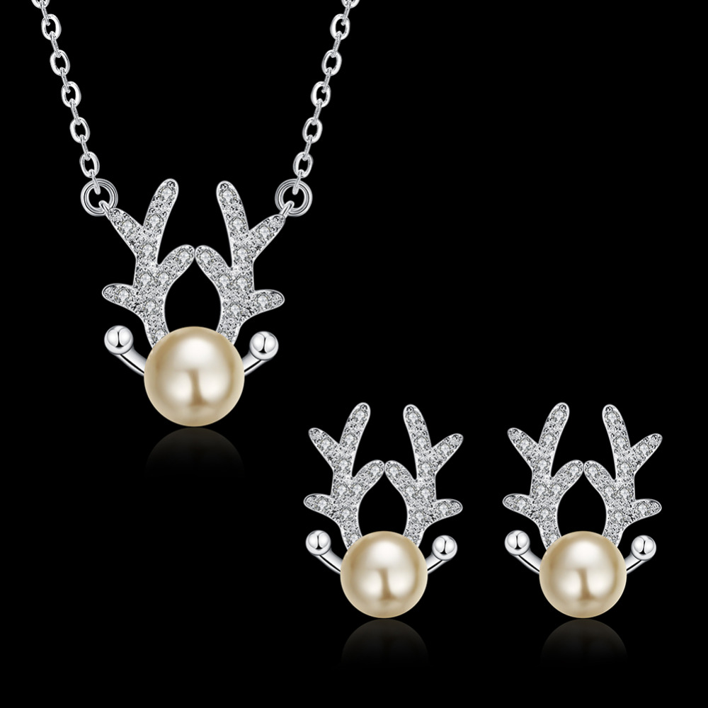 Jemmin Nette Deer Antlers Champagner Perle 925 Sterling Silber ...