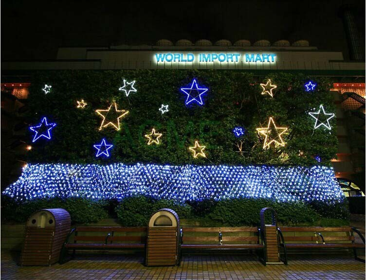 Рождественский светодиодный световые лампы год гирлянды 4x6 м 750 SMDs Водонепроницаемый светодиодный строка в помещении/на открытом воздухе ландшафтного освещения
