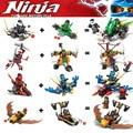 Nuevo 8 unids Ninjagoed Modelo building blocks ninja Lloyd Cole Jay Kai Zane Compatible Con Legoe minifigures Ladrillos establece Juguetes
