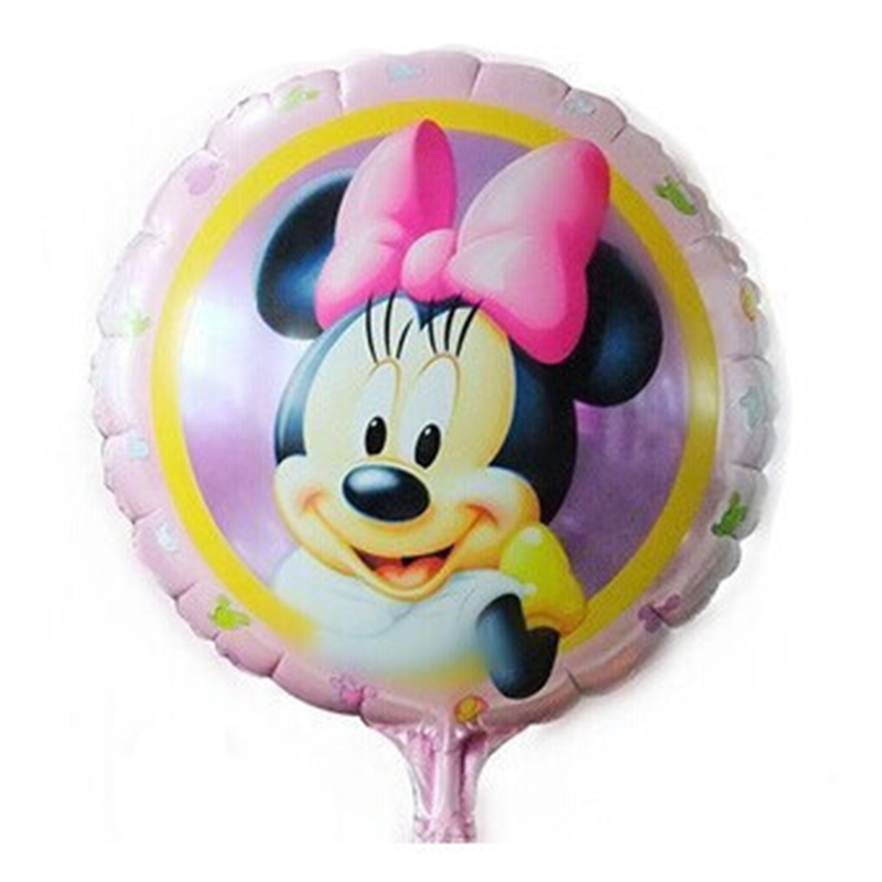 New Recommended! Aluminum balloons wholesale space ball toys for children 18-inch round Minnie Mouse balloon wholesale