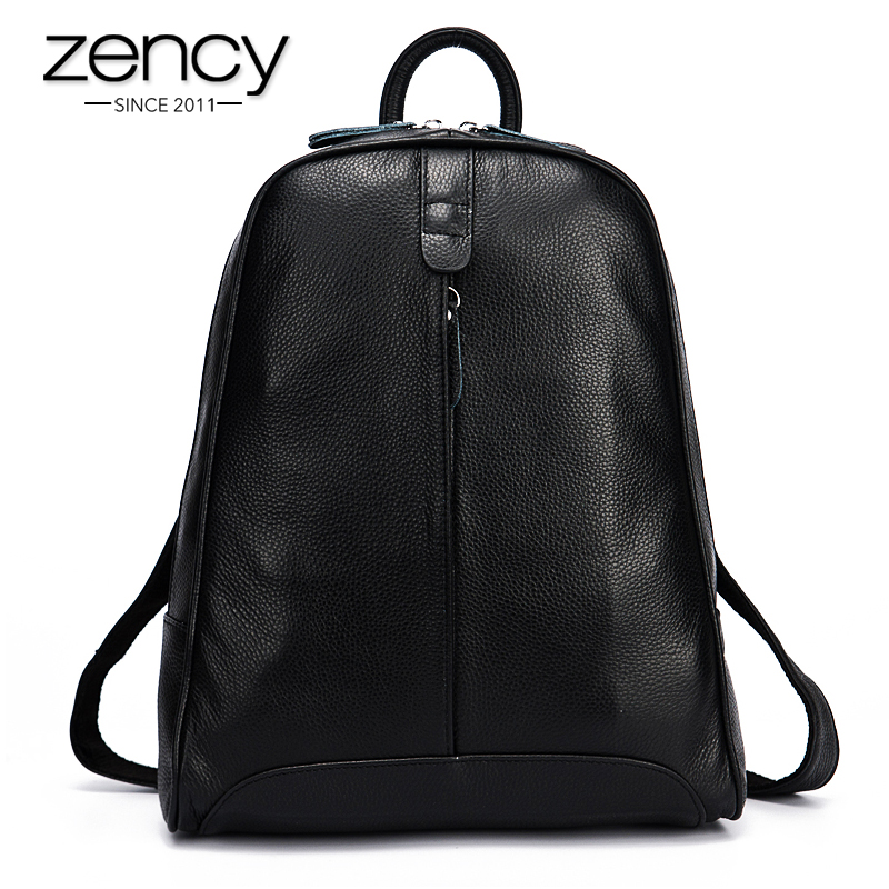 New 2017 100% Real Soft Genuine Leather Women Backpack Woman Korean Style Ladies Strap Laptop Bag Daily Backpack Girl School