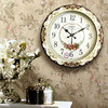 TUDA Free Shipping 16 Inch American Country Style Wall Clock Exquisited Wooden Wall Clock For Living