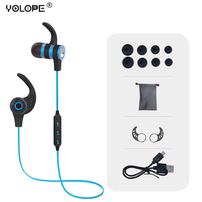 YOLOPE Mini Hifi Sport Blutooth Earbuds In-ear Earpieces Headset Auriculares Wireless Headphones Bluetooth Earphones For Phone kz ed8m earphone 3 5mm jack hifi earphones in ear headphones with microphone hands free auricolare for phone auriculares sport