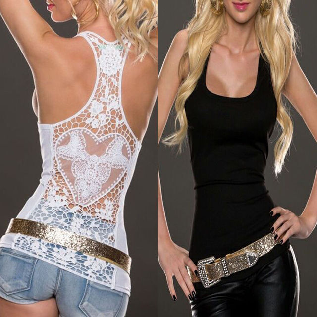 Women Summer Sexy Lace Vest Top