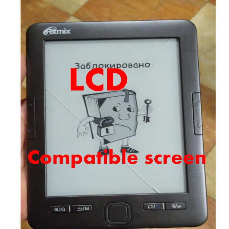 6 inch Compatible screen 1024 758 With backlight for Ritmix RBK 675FL Ebook Reader display