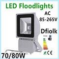 Светодиодный прожектор 70 Вт 80 Вт 100 Вт AC85-265V IP65 водонепроницаемый прожектор Наружное освещение Бесплатная доставка