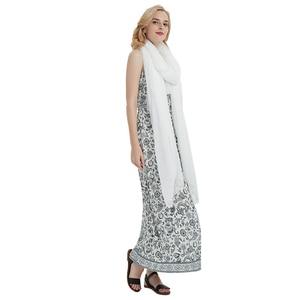 Image 5 - women scarf white shawl chiffon scarves spring autumn large more size ladies tippet beach towel