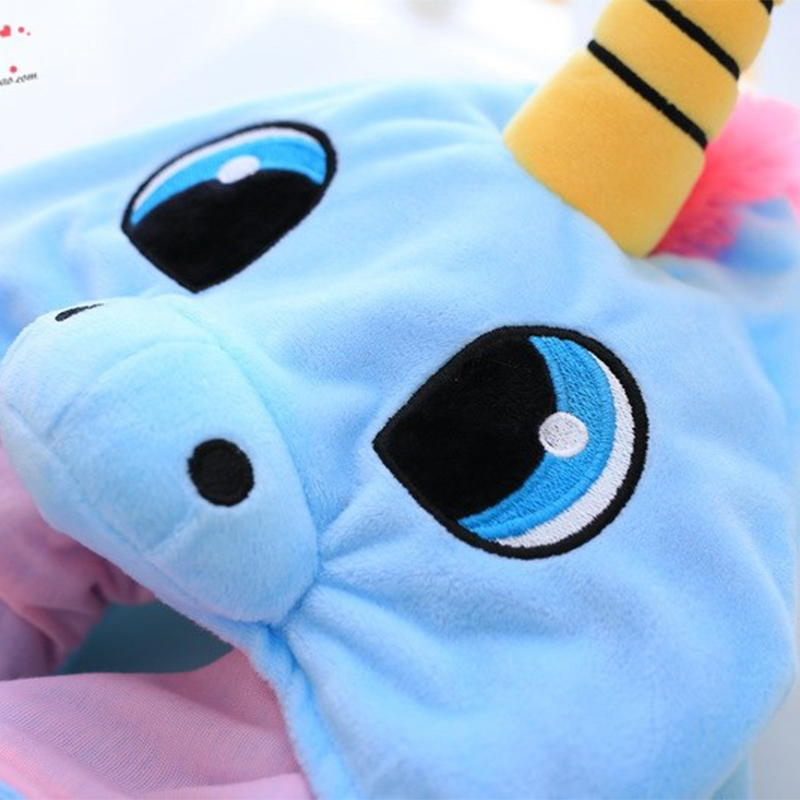 Hooded Unicorn Travel Pillow 2