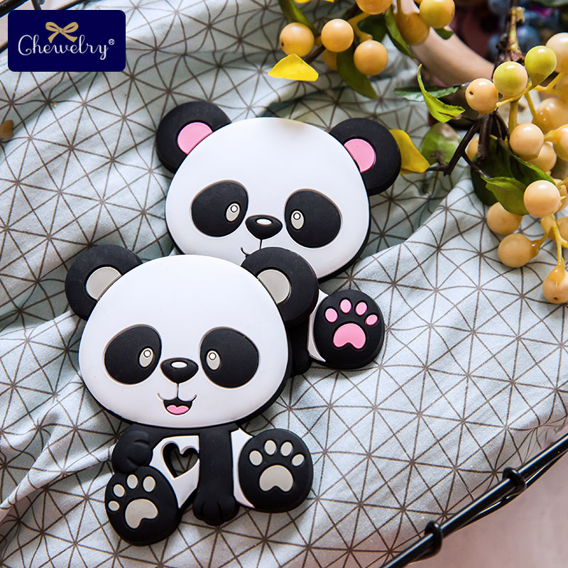 Silicone Teether Beads Panda Baby Toys BPA Free Teething DIY Pacifier Chain Necklaces Pendant Bite Chew For Children's Products