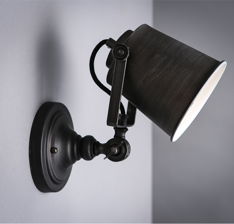 Adjustable iron wall lamp American retro bar living room bedroom beside hone lighting stairs creative balcony GY134Adjustable iron wall lamp American retro bar living room bedroom beside hone lighting stairs creative balcony GY134