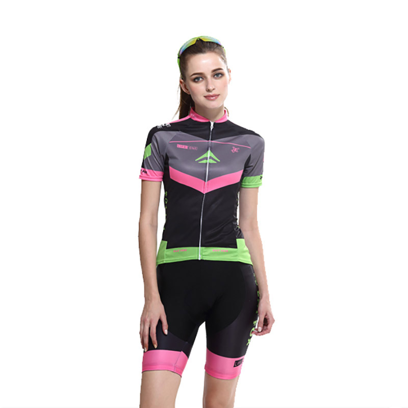 BATFOX Women Summer Bike Cycling Sets Female Maillot Fitness Breathable Gel Cycling 2017 Jersey Sets Clothing Kits