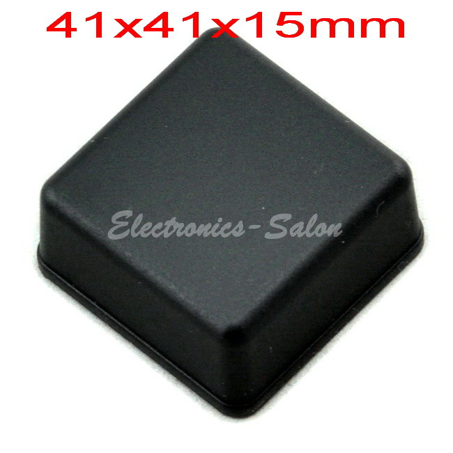 Small Desk-top Plastic Enclosure Box Case,Black, 41x41x15mm, HIGH QUALITY.