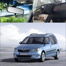 цена на For Skoda Fabia car front camera Driving Video Recorder Car Black Box Wifi DVR Dash Cam wide angle WDR Keep Car Original Style