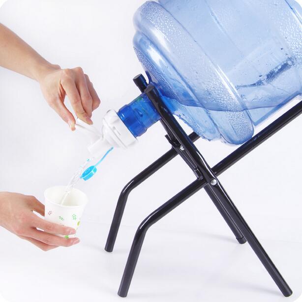 Bottled Water Hand Press Type Water Dispenser Drinking Bucket Pure Mineral Water Folding Rack