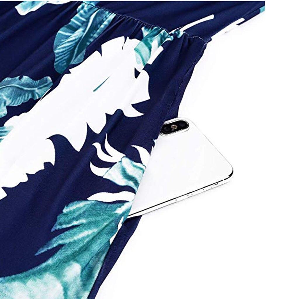 Women Summer Cold Shoulder Floral Print Elegant Maxi Long Dress Pocket Dress O Neck Regular Sleeve