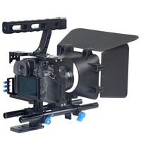 Professional Handle DSLR Rig Stabilizer Video Camera Cage Follow Focus Matte Box Kit For Sony A7S
