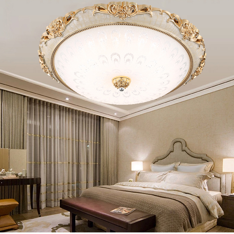 new LED continental Ceiling Lights bedroom living room modern crystal glass ceiling lamp living room lighting ZA FG73 5 7 inch 4 wire touch screen glass new