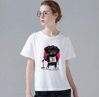 New Women Fashion T Shirt 3D Printing Sing Song Dog Design Tshirt Funny Music Dog Printed