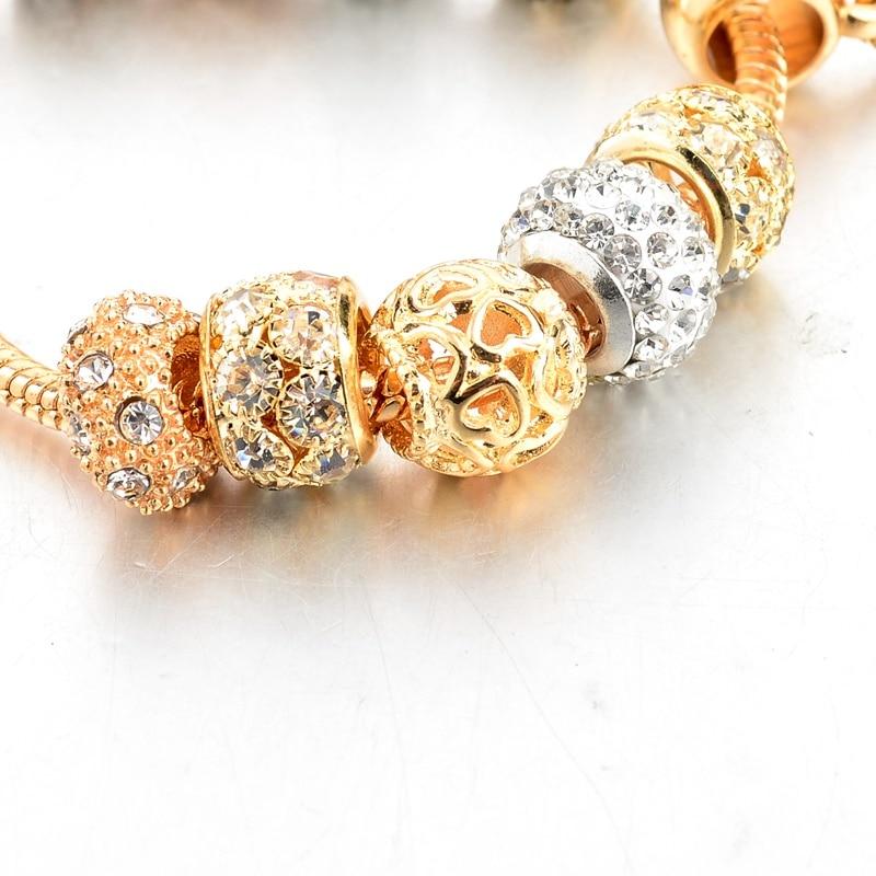 19 Styles Crystal Heart Charm Bracelets & Bangles - Gold*
