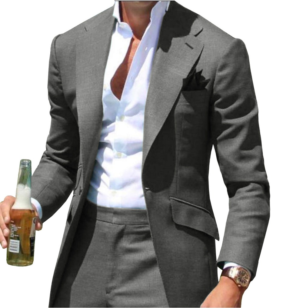 Peak Causal Slim Fit Notched Label Green Mens suit Blazer Formal Business For Wedding Groom Causal (Only Jacket)