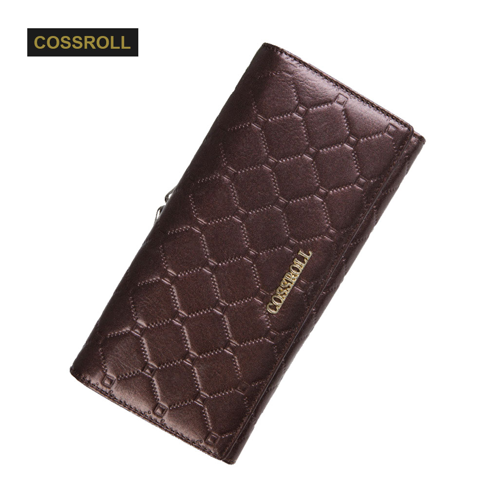 Women Purse Cowhide Leather Wallet Luxury Design Ladies Party Clutch Patent Red Leather Purses Long Card Holder Elegant Female
