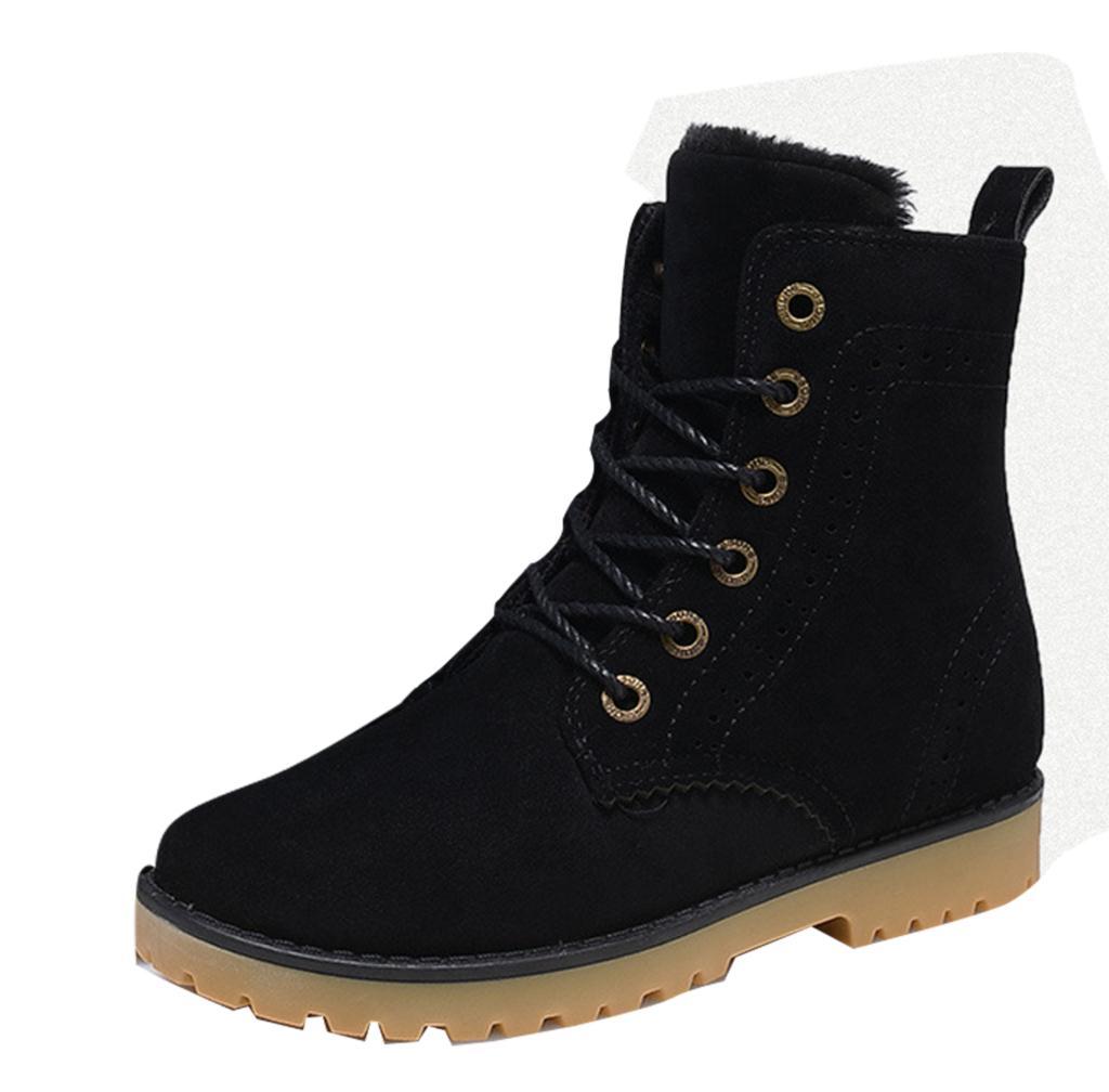Novos Sexo Boots Couro Sólidos up Retro Botas De Lace Do Algodão Quente Apartamentos Sapatos Los Hombres azul 2017 Masculino Novas Homens Martin khaki vermelho Dos Ankle Neve Preto 1q7Yv8Z