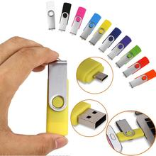 Free shipping pendrives creativos swivel dual usb port 4gb 8gb 16gb mini pen drive 32 gb otg usb 2.0 android