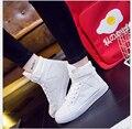 2017 ботинки холстины женщин мода черный и белый плоский обувь Hook & Loop женщины повседневная обувь