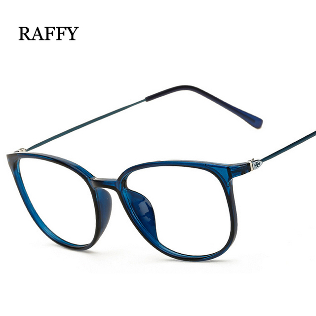 8883382a7387 RAFFY Fashion Design Spectacle Frame Round Metal Myopia Frame Glasses Frame  Green Ultra Light Vintage Cat Glasses Women UV400